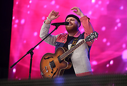 Tom Walker on stage during Capital's Summertime Ball. The world's biggest stars perform live for 80,000 Capital listeners at Wembley Stadium at the UK's biggest summer party.