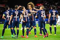 Joie David LUIZ - 28.04.2015 - Paris Saint Germain / Metz - Match en retard - 32eme journee Ligue 1<br />Photo : Nolwenn Le Gouic / Icon Sport