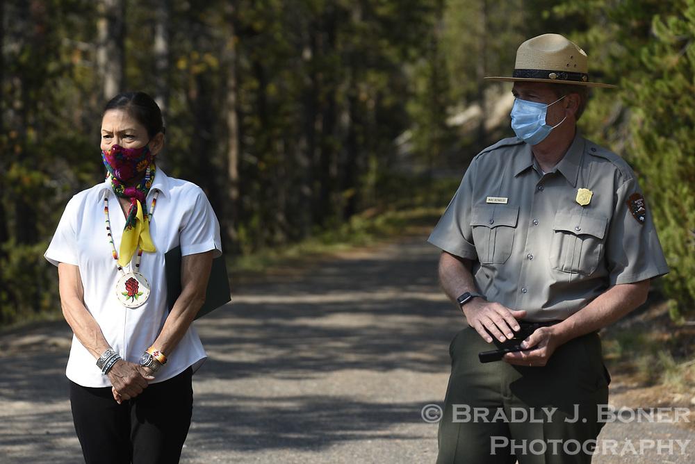 United States Secretary of the Interior Deb Haaland in Yellowstone National Park
