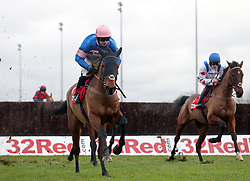 Cyname ridden by Sean Bowen wins the 32Red.com Wayward Lad Novices' Steeple Chase during day two of the 32Red Winter Festival at Kempton Park, Sunbury on Thames.