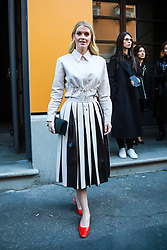 Lady Kitty Spencer arrives ahead of the Tod's fashion show at the Milan Fashion Week, Italy on Friday February 21, 2020.
