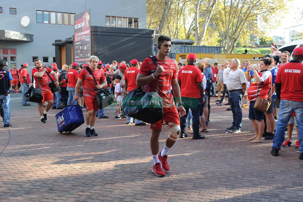 070418 Emirates Airlines Park, Ellis Park, Johannesburg, South Africa. Super Rugby. Lions vs Stormers. The Lions team arrivin.<br />Picture: Karen Sandison/African News Agency (ANA)