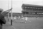 09/05/1965<br /> 05/09/1965<br /> 9 May 1965<br /> National Hurling League Semi-Final: Waterford v Tipperary at Croke Park, Dublin.<br /> E. Power, the Waterford golie, fails to stop Tipperary's second goal, which put Tipperary's win in the bag.