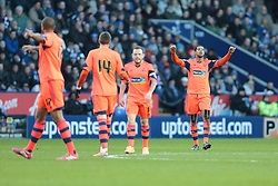 Bolton Wanderers' Jermaine Beckford celebrates after scoring a goal to put Bolton 2-1 up - Photo mandatory by-line: Nigel Pitts-Drake/JMP - Tel: Mobile: 07966 386802 29/12/2013 - SPORT - FOOTBALL - King Power Stadium - Leicester - Leicester City v Bolton Wanderers - Sky Bet Championship