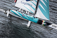 Image licensed to Lloyd Images<br /> The Extreme Sailing Series 2015. Act4 - Cardiff.UK<br /> GAC Pindar skippered by Chris Draper (GBR)<br /> Credit: Lloyd Images