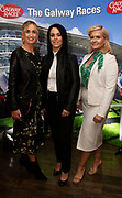 25/09/2018 Repro free: Mary Davin, Tara McFadden and Valerie Cooke at the launch of Galway Race course  details of their new and exciting three-day October Festival that takes place over the Bank Holiday weekend, Saturday 27th, Sunday 28th and Monday 29th continuing racing and glamour into the Autumn.<br />   Each of the three race days offers something for all the family to enjoy, with a special theme attached to each day, together with fantastic horse racing, live music, delicious hospitality, entertainment and of course the meeting of old friends and new at Ballybrit.  <br /> Halloween Family Fun <br /> On Saturday 27th October come along with your children and grand children and enjoy the 'Spooktacular' Halloween themed family fun day with lots of entertainment including a fancy-dress competition, Halloween games and face painting to mention but a few!! All weekend children under 16 years of age have free admission. <br /> Race in Pink <br /> As part of this new October Festival and with-it being Breast Cancer Awareness month, Galway Racecourse have partnered with The National Breast Cancer Research Institute to host a dedicated fundraiser on Sunday 28th October called 'Race in Pink'.  <br /> <br /> Student Race Day in aid of the Voluntary Services Abroad <br /> Monday sees the return of our annual 'Student Race Day' in conjunction with the Voluntary Services Abroad (a medical aid charity run by the fourth-year medical students of NUI, Galway), and the NUIG Rugby Club.  Each year, this fundraising day for the student organisations raises a tremendous amount of money for their chosen projects including the VSA annual summer volunteer trip to Africa where they use the funds raised to help projects at the hospitals they visit. <br />  National hunt racing on Saturday kicks off at 2.05pm with racing Sunday and Monday off at 1.05pm. Adult admission on all three days is €15 with children under 16 years of age, free. For more information please check out www.galwayrace