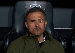 March 23, 2019 - Valencia, U.S. - VALENCIA, SPAIN - MARCH 23: Luis Enrique Martinez, head coach of Spain looks during the 2020 UEFA European Championships group F qualifying match between Spain and Norway at Mestalla stadium on March 23, 2019 in Valencia, Spain. (Photo by Carlos Sanchez Martinez/Icon Sportswire) (Credit Image: © Carlos Sanchez Martinez/Icon SMI via ZUMA Press)