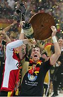 Håndball<br /> VM Tyskland<br /> 04.02.07<br /> Finale <br /> Tyskland - Polen<br /> Oliver Roggish blir dusjet<br /> Tyskland Verdensmester<br /> DIGITALSPORT / NORWAY ONLY