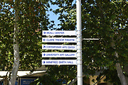 Directional Signs on Campus at the University of California Irvine