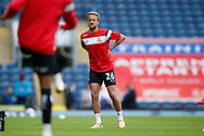 James Coppinger of Doncaster Rovers warming up during the EFL Cup match between Blackburn Rovers and Doncaster Rovers at Ewood Park, Blackburn, England on 29 August 2020.