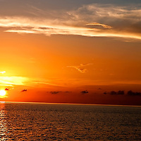 Sunset in Grand Cayman from Westin on Seven Mile Beach