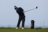 Paul O'Hanlon (Carton House) on the 1st tee during Round 3 of The West of Ireland Open Championship in Co. Sligo Golf Club, Rosses Point, Sligo on Saturday 6th April 2019.<br /> Picture:  Thos Caffrey / www.golffile.ie