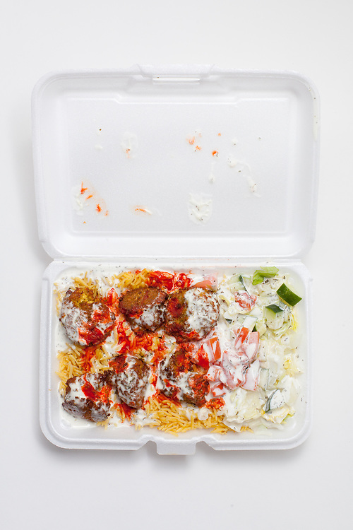 Falafel over Rice from Fishtown Gyro Cart ($7.00) - Takeout