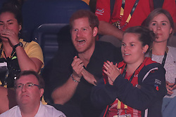 September 27, 2017 - Toronto, Canada - Image licensed to i-Images Picture Agency. 26/09/2017. Toronto, Canada. Prince Harry watches the indoor rowing on day four of the  Invictus Games in Toronto, Canada.  Picture by Stephen Lock / i-Images (Credit Image: © Stephen Lock/i-Images via ZUMA Press)