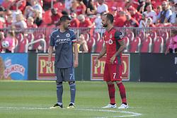 August 12, 2018 - Toronto, Ontario, Canada - MLS Game at BMO Field 2-3 New York City. IN PICTURE: DAVID VILLA, VICTOR VAZQUEZ (Credit Image: © Angel Marchini via ZUMA Wire)