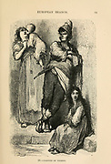 Natives of Toledo, Spain engraving on wood From The human race by Figuier, Louis, (1819-1894) Publication in 1872 Publisher: New York, Appleton
