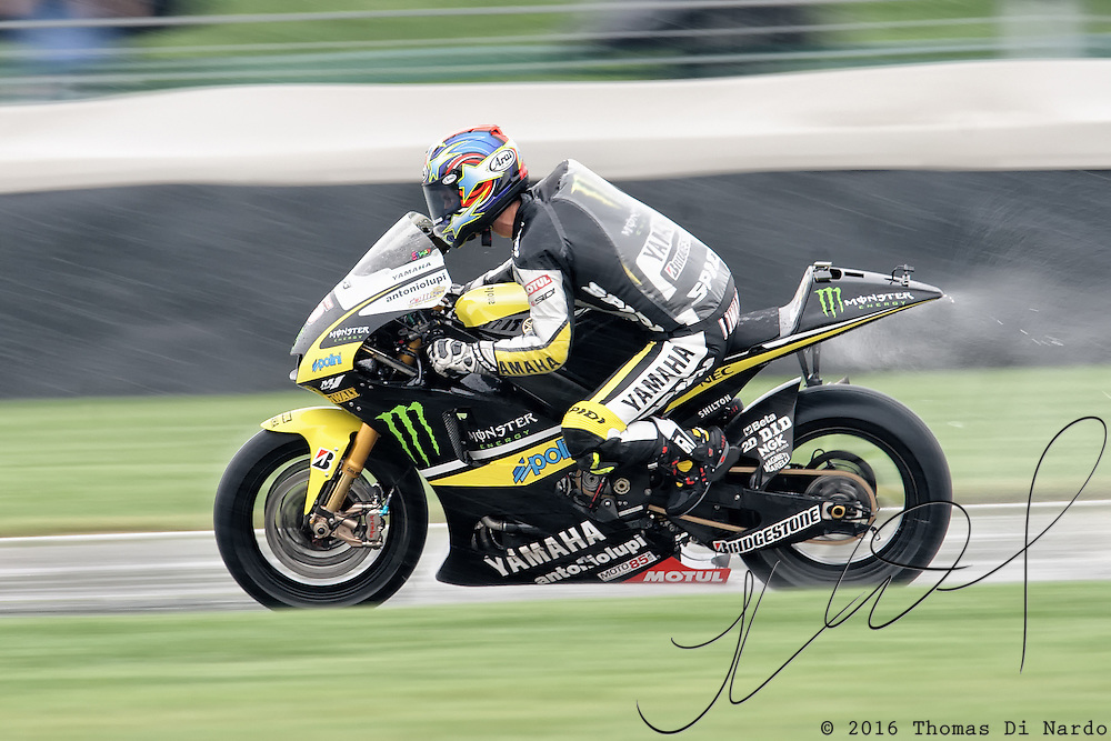 August 8, 2009, Colin Edwards practices during Free Practice 1 at the Red Bull Indianapolis Grand Prix.