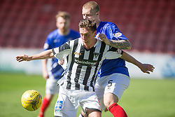 Dunfermline's Joe Cardle and Cowdenbeath's Kenneth Adamson. <br /> Dunfermline 7 v 1 Cowdenbeath, SPFL Ladbrokes League Division One game played 15/8/2015 at East End Park.
