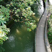 Track over Isar river in Munich. View from Maximilian Brucke