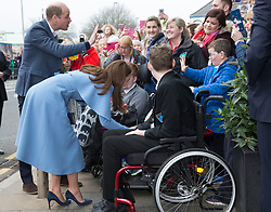 February 28, 2019 - Ballymena, United Kingdom - Image licensed to i-Images Picture Agency. 28/02/2019.  Ballymena, Northern Ireland, United Kingdom. The Duke and  Duchess of Cambridge on a walkabout  the Braid Centre in Ballymena on the second day of their trip to Northern Ireland. (Credit Image: © Stephen Lock/i-Images via ZUMA Press)