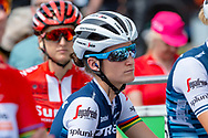 Lizzie Deignan (GBR) riding for Trek-Segafredo at the start of Stage 2 during the OVO Energy Women's Tour 2019 at Cyclopark, Gravesend, United Kingdom on 11 June 2019.