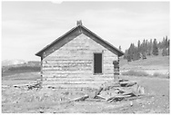 East side of the abandoned RGS section house at Lizard Head.<br /> RGS  Lizard Head, CO  Taken by Graves, William A. - ca. 1953