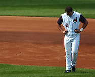 MORNING JOURNAL/DAVID RICHARD<br />Cleveland's Jhonny Peralta hangs his head after flying out to end the fifth inning  yesterday against the White Sox.
