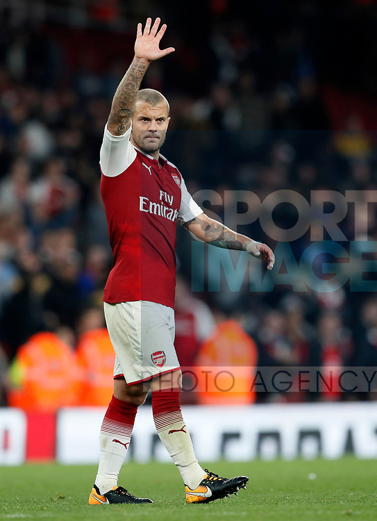 Arsenal's Jack Wilshere waves to the crowd during the Carabao Cup Third Round match at the Emirates Stadium, London. Picture date 20th September 2017. Picture credit should read: David Klein/Sportimage