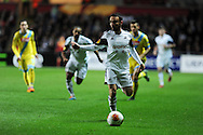 Leon Britton of Swansea city in action.UEFA Europa league match , Swansea city v Napoli at the Liberty Stadium in Swansea, South Wales on Thursday 20th Feb 2014. pic by Andrew Orchard, Andrew Orchard sports photography.
