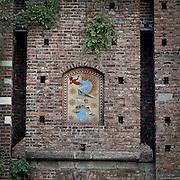 Lo stemma degli sforza al Castello Sforzesco in Milan..Sforza arms in Sforzesco castle in Milan