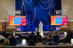 Emerald Fennell accepts the Oscar® for Original Screenplay during the live ABC Telecast of The 93rd Oscars® at Union Station in Los Angeles, CA, USA on Sunday, April 25, 2021. Photo by Todd Wawrychuk/A.M.P.A.S. via ABACAPRESS.COM
