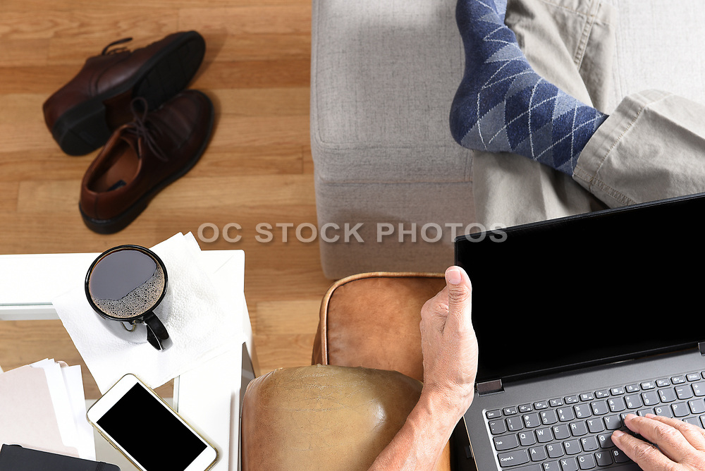 Man Working From Home During the Covid-19 Lockdown