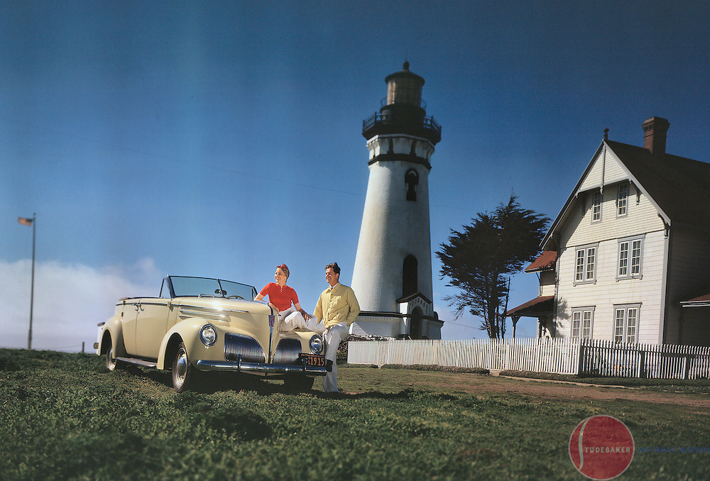 1939 Studebaker President Convertible Sedan at the Piedras Blancas Light Station in San Simeon, California.