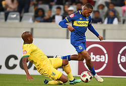 Cape Town-180818 Cape Town City winger Craig Martin challenged by Danny Venter  of Golden Arrows in a PSL match at Cape Town Stadium .photograph:Phando Jikelo/African News Agency/ANA