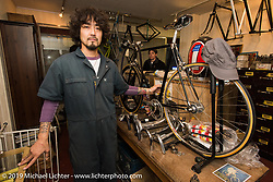 Kaichiroh Kurosu at his Cherry's Company shop. Tokyo, Japan. Monday, December 8, 2014. Photograph ©2014 Michael Lichter.