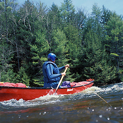 Early spring paddling on the Suncook River.  Class II.  Tributary to the Merrimack River.  Pittsfield, NH