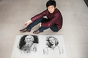 LINGBAO, CHINA - DECEMBER 09: (CHINA OUT) <br /> <br /> Hairdresser Makes Paintings With Hair<br /> <br /> 35-year-old hairdresser Li Hailiang makes out a painting of Marilyn Monroe with hair on December 9, 2015 in Lingbao, Henan Province of China. Li Hailiang, a 35-year-old hairdresser, loved painting from childhood. Inspired by the art of sand painting, Li Hailiang made out portrait paintings of celebrities such as Marilyn Monroe, Qi Baishi and landscape  painting Potala Palace with hair.<br /> ©Exclusivepix Media