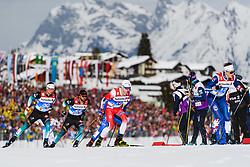 February 21, 2019 - Seefeld In Tirol, AUSTRIA - 190221 Sindre BjÂ¿rnestad Skar of Norway competes in men's cross-country skiing sprint quarter final during the FIS Nordic World Ski Championships on February 21, 2019 in Seefeld in Tirol..Photo: Joel Marklund / BILDBYRN / kod JM / 87880 (Credit Image: © Joel Marklund/Bildbyran via ZUMA Press)