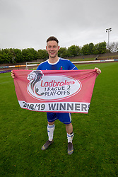 Cove Rangers captain Mitchel Megginson. Cove Rangers have become the SPFL's newest side and ended Berwick Rangers' 68-year stay in Scotland's senior leagues by earning a League Two place. Berwick Rangers 0 v 3 Cove Rangers, League Two Play-Off Second Leg played 18/5/2019 at Berwick Rangers Stadium Shielfield Park.