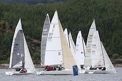 The Silvers Marine Scottish Series 2014, organised by the  Clyde Cruising Club,  celebrates it's 40th anniversary.<br /> Day 1<br /> <br /> Class 4 MalinWaters- with GBR607, Wee Shamal, Callum Tuckett, Helensburgh SC, J80<br /> Racing on Loch Fyne from 23rd-26th May 2014<br /> <br /> Credit : Marc Turner / PFM