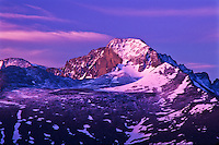 14,255 ft. Longs peak at sunrise.  Rocky Mountain National Park, Colorado.