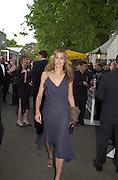 Yasmin LeBon. The Louis Vuitton Clasic. Hurlingham Club, London. 2 June 2001. © Copyright Photograph by Dafydd Jones 66 Stockwell Park Rd. London SW9 0DA Tel 020 7733 0108 www.dafjones.com