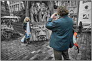 SERIES - DAY-TRIPPER PRAGUE by Paul Williams - Day Tripper Prague is a selecvtive colour street photography series by photographer Paul Williams  of tourists visiting Prague at Christmas  2007 .<br /> <br /> Visit our REPORTAGE & STREET PEOPLE PHOTO ART PRINT COLLECTIONS for more wall art photos to browse https://funkystock.photoshelter.com/gallery-collection/People-Photo-art-Prints-by-Photographer-Paul-Williams/C0000g1LA1LacMD8
