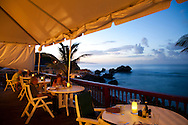 The Atlantis Hotel, Tent Bay, St. Joseph, Barbados offers both indoor and outdoor dining options with sweeping views of the Atlantic coastline.