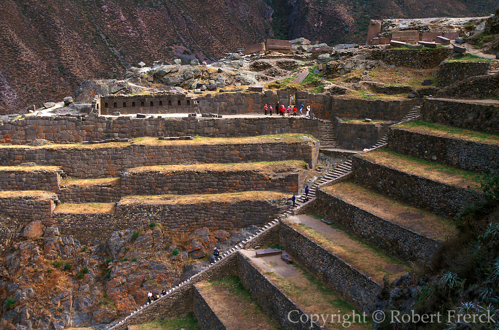 PERU, PREHISPANIC, INCA Ollantaytambo; fortress, Sacred Valley