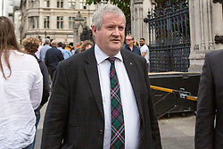 © Licensed to London News Pictures. 03/09/2019. London, UK. MP for Ross, Skye and Lochaber Ian Blackford arrives at The Houses of Parliament. Parliament is returning from the summer recess today with MPs expected to try to stop a no-deal Brexit. Prime Minister Boris Johnson has threatened to hold a snap election if the legislation is passed.  Photo credit: George Cracknell Wright/LNP