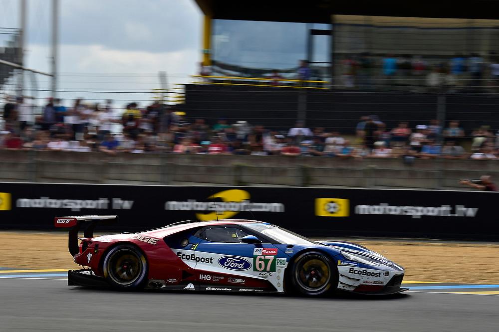 #67 Ford Chip Ganassi Racing Ford GT: Andy Priaulx, Harry Tincknell, Tony Kanaan<br /> Saturday 16 June 2018<br /> 24 Hours of Le Mans<br /> 2018 24 Hours of Le Mans<br /> Circuit de la Sarthe  FR<br /> World Copyright: Scott R LePage
