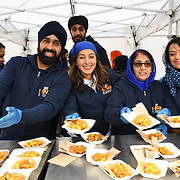 London, England, UK. 27 April 2019. Seva sikhism giving free food at Vaisakhi Festival is a Sikh New Year in Trafalgar Square, London, UK.