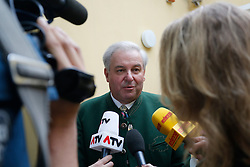 31.05.2015, Graz, AUT, Landtagswahl in der Steiermark, im Bild LH-Stv. Hermann Schützenhöfer (ÖVP) // during the state parliament election day in Graz, Austria on 2015/05/31, EXPA Pictures © 2015, PhotoCredit: EXPA/ Erwin Scheriau
