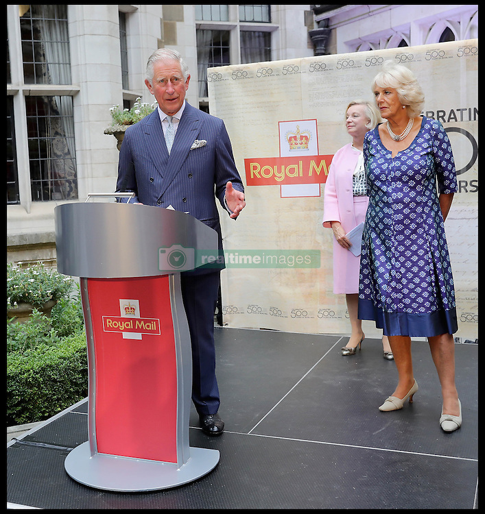 Image ©Licensed to i-Images Picture Agency. 06/09/2016. London, United Kingdom. Royal Mail  500th Anniversary. <br /> <br /> Prince Charles, Prince of Wales gives a speech as he attends a reception to mark the 500th Anniversary of the Royal Mail at Merchant Taylor's Hall at  on September 6, 2016 in London, England<br /> <br /> Picture by  i-Images / Pool